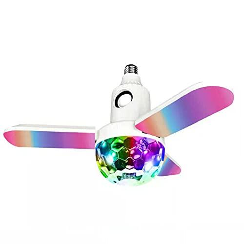 Bola Mágica de Cristal Bluetooth Luz de Música 40W E27 Bombilla de Deformación en Forma de Trébol Led Decoración de Iluminación Adecuada para El Dormitorio Familiar Sala de Estar