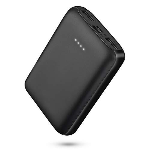 rocboc Mini Power Bank, 10000mAh Batteria esterna per telefono cellulare Caricabatteria portatile con 2 uscite USB (5V / 2A) per gilet riscaldato, smartphone, tablet e altri