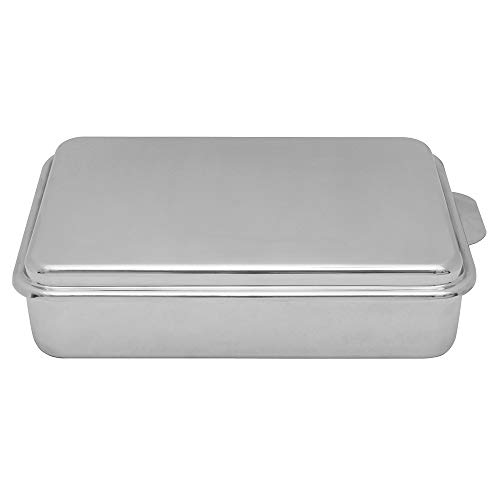 Lindy's Stainless Steel 9 X 13 Inches Covered Cake Pan, Silver