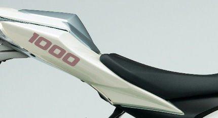 Paire de 1000 autocollants de carénage de moteur 1000 cc (argent)