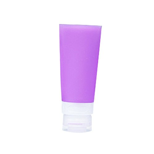 Livecity, leere Silikon-Reisetube, ideal zum Einfüllen von Shampoo / Lotion / Kosmetik, violett, 60ML