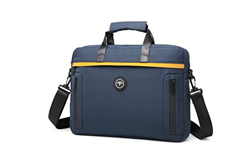 BE SMART Business Laptop Bag Hand Carry Bag fits 15.6 inches Computer case Briefcase Work Bag for Man and Woman-Blue