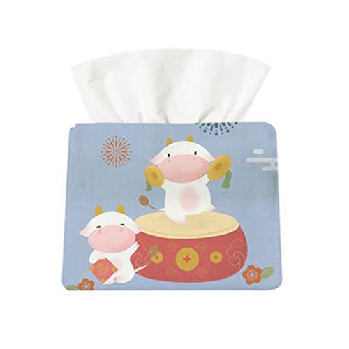 WPBOY Boîte à mouchoirs en tissu pour salle de bain, comptoirs, commodes de chambre, tables de chevet, bureaux et tables (Couleur : B)