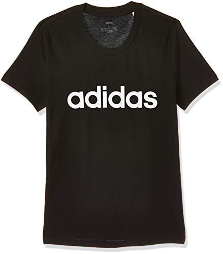 adidas Essentials Linear Tee, Maglietta Donna, Nero (Black/White), XS