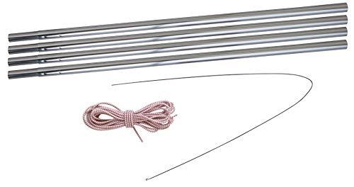 Eurotrail Kit de barre en aluminium Argenté 9,5 mm 400-450 cm