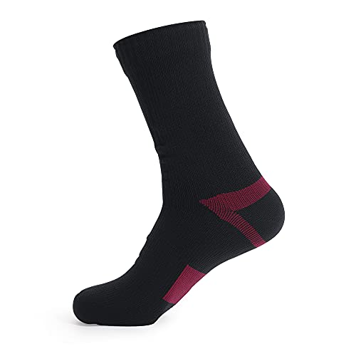 Waterproof socks for Men WomenFor outdoor activities 100 waterproof breathable windproof Perfect for Cycling Hiking Golf Rowing FishingTrekking Skiing Tracing Socks etc out sports Red m
