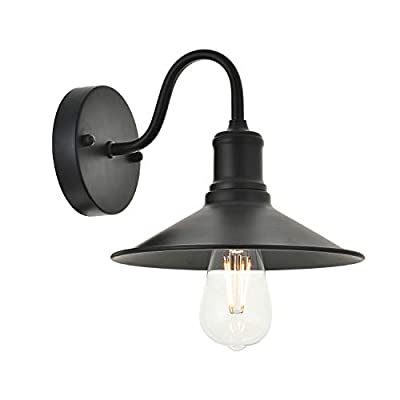 TODOLUZ Industrial Wall Light Fixture with Black Finished Rustic Modern Wall Sconce for Dining Room Kitchen Island