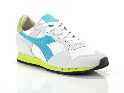 Diadora Heritage, Donna, Trident W SW Low, Suede/Canvas, Sneakers, Bianco, 36.5