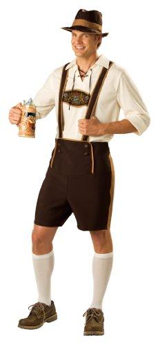 InCharacter caractère LLC Men's Costumes Déguisement de Bavaroise Guy T-Shirt avec Pull-Marron/Marron Clair - - Medium