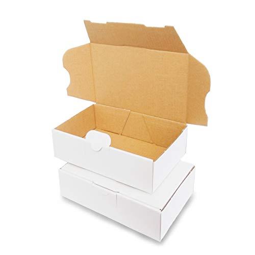 100 Maxibriefkartons Versandkartons Faltschachtel Faltkarton Maxibrief 160 x 110 x 50 mm, Weiss, MB-1