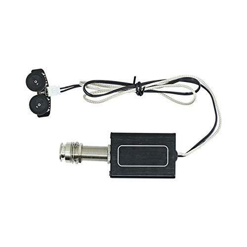 CBLD Wiederaufladbare Akustikgitarre Aktiver Piezo Pickup Pickup Transducer mit Lautstärke- und Ton for Folkgitarre Musikinstrumententeile