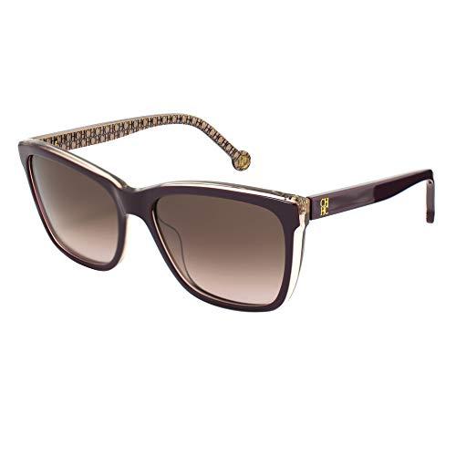 Carolina Herrera SHE695550ABH Gafas de sol, Morado, 55 para Mujer