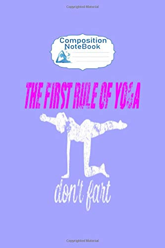 Composition Notebook: yoga asana position - 50 sheets, 100 pages - 6 x 9 inches