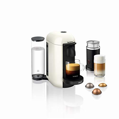 Nespresso VERTUO Plus XN9031 Cafetera de cápsulas, máquina de café expreso de Krups, café diferentes tamaños, 5 tamaños tazas, tecnología Centrifusion,calentamiento 40 segundos, Blanca