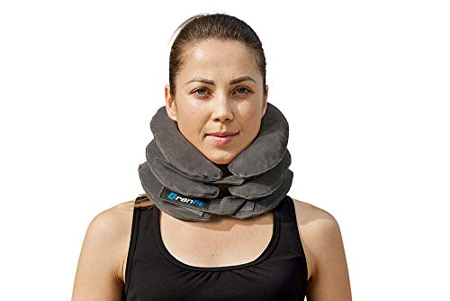 Cervical Neck Traction Device and Collar Brace by BRANFIT, Inflatable and Adjustable USA Designed Neck Support & Stretcher is Ideal for Spine Alignment and Neck Pain Relief (1 Count (Pack of 1))