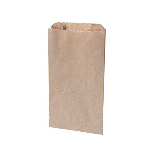 BIOZOYG Bio papierowe torebki na bułki, składane torebki papierowe do kompostowania I Biodegradowalne torebki na bułki, Semmel pieczywo I 1000 torebek piekarniczych w kolorze brązowym 10 x 5 x 18,5 cm