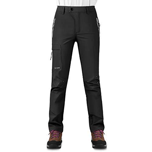 KUTOOK Pantalones Softshell Mujer Invierno Pantalones Deporte Impermeables para Montaña Trekking Senderismo...
