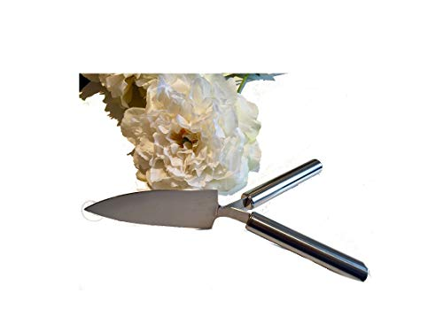 Tortenmesser 2 Griffe Henkel Hochzeit Hochzeitstorte NEU 26x15cm Kuchenmesser silber Edelstahl, Geschenk, Hochzeitsgeschenk, kein Streit mehr, wer die Hand oben hat Messer Hochzeitsmesser