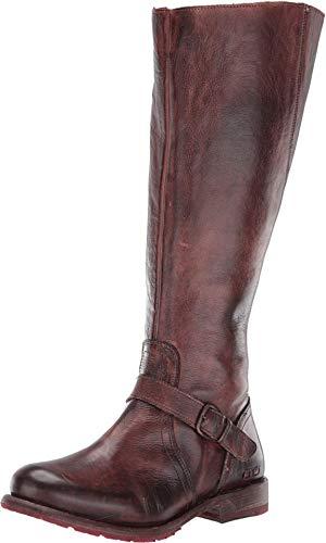 Bed Stu Women's Glaye Wide Calf Boot (9.5, Teak Rustic)