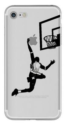 Iphone 6 or Iphone 6s Silicone Case Cover Transparent Basketball J ...