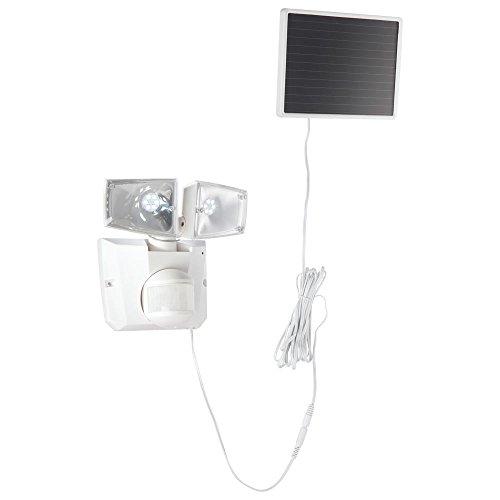 Globo Double spot à énergie solaire avec détecteur de mouvements Usage extérieur IP44 Blanc