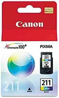 New Canon CL-211 Color Ink Cartridge 1 Each Inkjet Print Technology Yield 244 Page Tri-Color