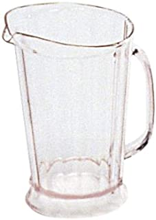 Rubbermaid Commercial Products FG333400CLR Bouncer II Pitcher, 60 oz (Pack of 6)