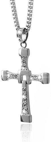 〔POYEL〕 ネックレス メンズ 十字架 クロス ロザリオ アクセサリー メンズネックレス ワイルドスピード ドミニク ドムヘッド ジュエリーボックス &ジュエリー クロス セット