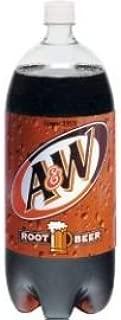 A&W ROOT BEER SODA 2 LITER BOTTLE