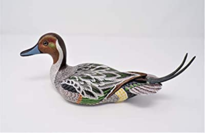 USA made miniature 10 inch (25cm) hand carved bird collectible wood decoy duck Northern Pintail Duck