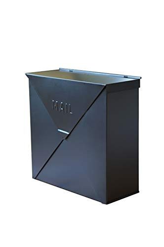 NACH Chicago Black Industrial Style Mailbox, Matte Black, Maximum Rust Protection, 10 x 10 x 4, Hardware Included, MB-6300BLK by North American Country Home