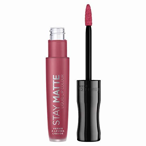 Rimmel - Rouge à Lèvres Stay Matte Liquide - Fini mat - Waterproof et sans transfert - 210 Rose & Shine - 5,5ml