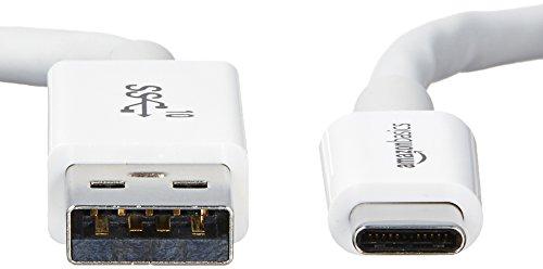 Amazon Basics - USB C Kabel auf USB Typ A, USB 3.1, 2. Generation, 0,9 m, Weiß
