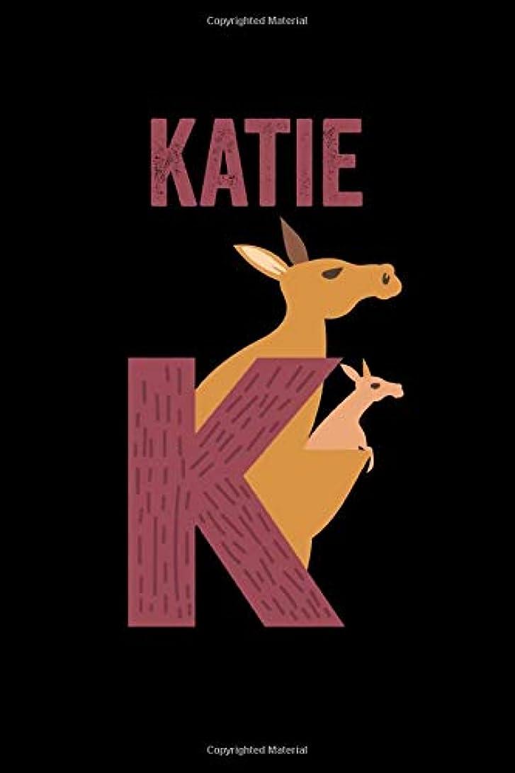 古くなった幸福修理工Katie: Journal (Diary, Notebook) Personalized Custom Name Alphabet Kangaroo Birthday Gift for Girls