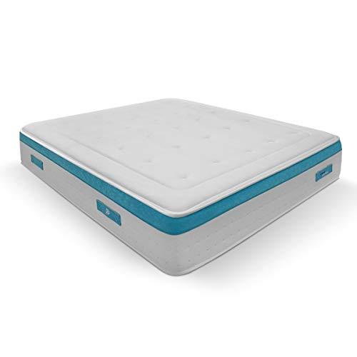 Duérmete Online Colchón Viscoelástico Visco SANEX Antibacterial | Alto Confort y Máxima Higiene | Altura 28 cm, Viscogel, 105x190