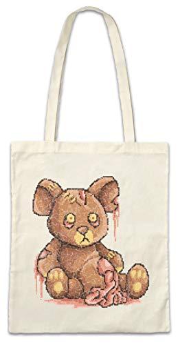 Urban Backwoods Pixel Zombie Teddy Hipster Bag Beutel Stofftasche Einkaufstasche