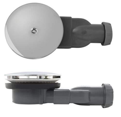 Wirquin Slim Duschventil, extra flach, 4 cm, Siphon, Durchmesser 90