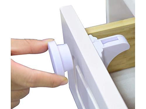 20 Stück unsichtbares magnetisches Schrankschloss - Baby Sicherheit - mit 4 Magnet-Schlüsseln, 2 Montagehilfen - Kindersicherung für Schrank + Schubladen - kein bohren/schrauben 3M Klebepads - AW-ON