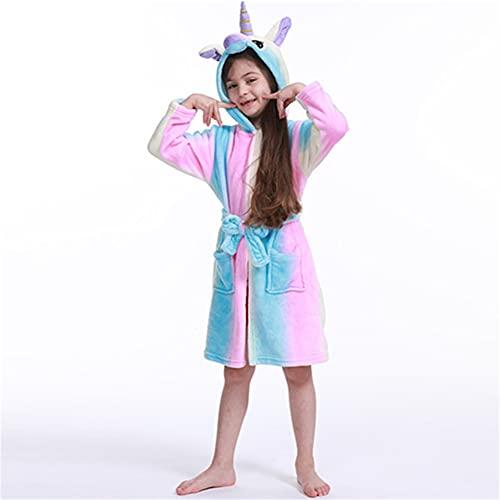 Smilsiny - Albornoz infantil con capucha, diseño de animales, muy suave con capucha, juguetes y regalos, 3 años – 11 años