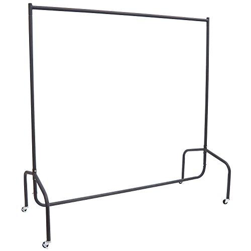 HOMCOM Portant Tringle à vêtements Acier Charge Max. 140 Kg dim. 150L x 60l x 170H cm Noir