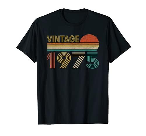 Vintage 1975 46 Anni Compleanno Uomo Donna Regalo Divertente Maglietta
