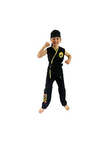 DISBACANAL Disfraz Cobra Kai karateca Infantil - -, 10 aos