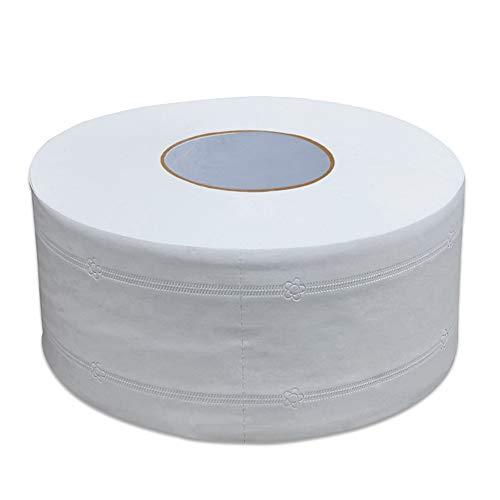 Original Rolle Toilettenpapier Handtücher 1000 Blatt, 4 Schichten Standard Bad Seidenpapier Kein Duft Bad Seidenpapier für gewerbliche Haushalte (Weiß, 1 Big Rolls)