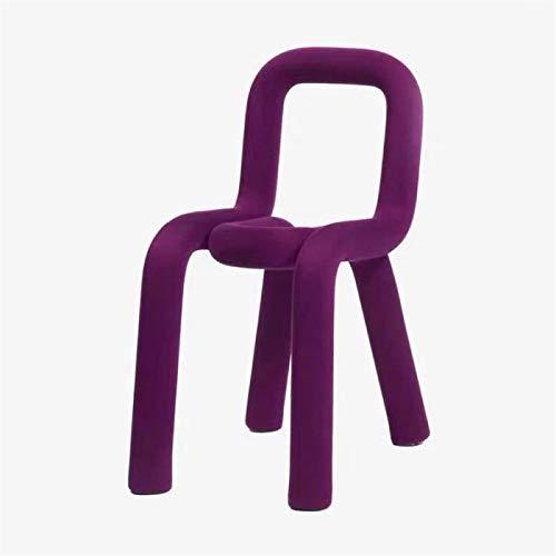 HappyL Einzelrückenlehne Stuhl Restaurant Esszimmerstuhl Haushalt Make-up Stuhl (Color : 500)