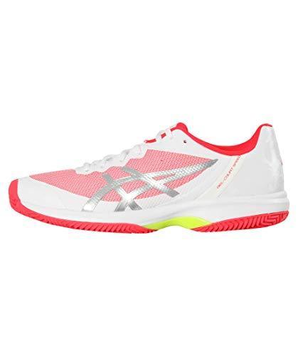 ASICS Damen Tennisschuhe Sandplatz Gel-Court Speed Clay Weiss/pink (979) 40,5EU