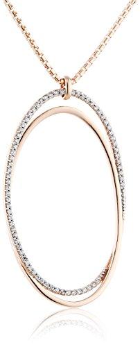Esprit Damen Halskette 925 Sterling Silber Zirkonia antheia rose 80 cm weiß ELNL93128C800