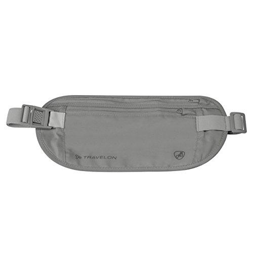Travelon RFID Blocking Undergarment Waist Pouch, Gray, One Size