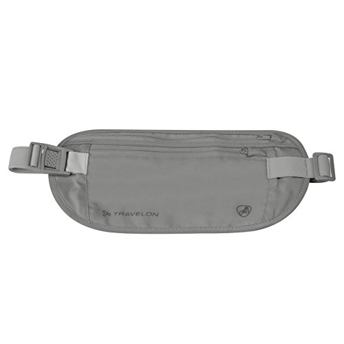 Travelon RFID Blocking Undergarment Waist Pouch, Gray