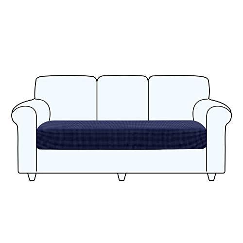 TAOCOCO Fundas de cojín de sofá, Protector de cojín de Asiento de Tela de poliéster de Alta Elasticidad (Azul Oscuro, 3 Asientos)