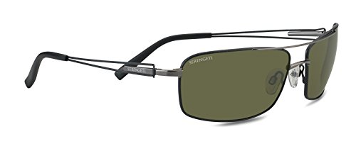 Serengeti Eyewear Sonnenbrille Dante, Shiny Gunmetal/Black Tannery, M/L, 7115